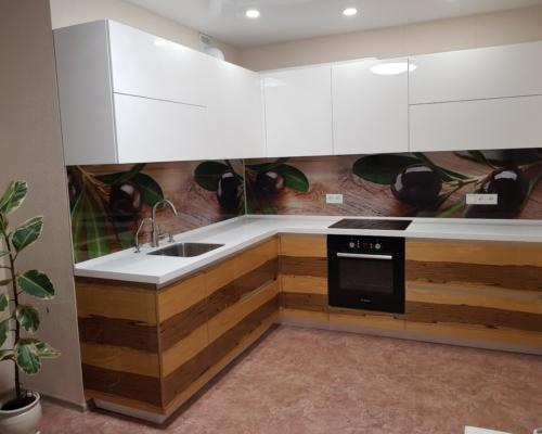 Кухня Шпон Глянец